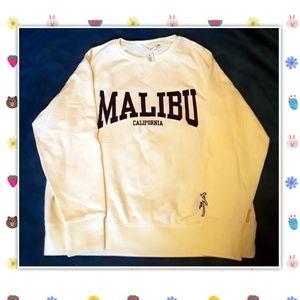 🌴NWT H&M Creme-Colored Malibu Sweatshirt Size L🌴